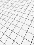Perspektiv av ett kvadrerat belagt med tegel golv royaltyfria bilder