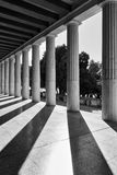 Perspektiv av klassiska kolonner Fotografering för Bildbyråer