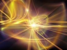 Perspektiv av ljusa slingor Arkivfoton