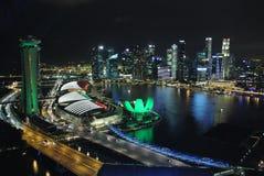 Perspektiv av Marina Bay Royaltyfri Bild