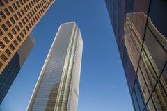 Perspektiv av skyskrapan i stadens centrum Los Angeles Arkivbilder