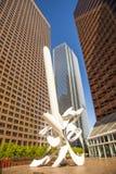 Perspektiv av skyskrapan i stadens centrum Los Angeles Arkivfoto