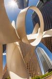 Perspektiv av skyskrapan i stadens centrum Los Angeles Royaltyfria Foton