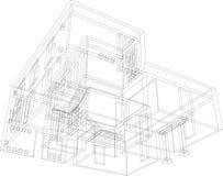 perspektiv för 34 konstruktion Royaltyfri Bild