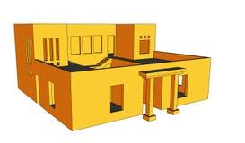 perspektiv för 5 hus Arkivfoton