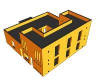 perspektiv för 6 hus Royaltyfri Foto