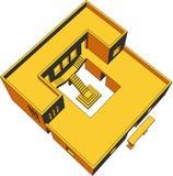 perspektiv för 8 hus Arkivbild