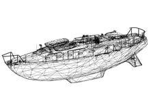 """Perspektiv för 3D för fartygritning†"""" vektor illustrationer"""