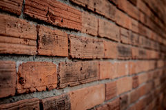 Perspektiv för väggtegelstentextur Arkivfoto