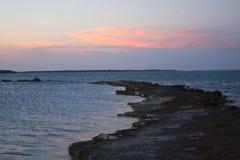 Perspektiv från en Rocky Point i de Florida tangenterna Arkivbilder