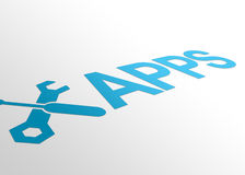 Perspektive Apps Lizenzfreies Stockfoto
