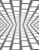 Perspektive der leeren filmstrips - Hintergrund lizenzfreie abbildung