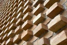 Perspektive einer Backsteinmauer Lizenzfreie Stockfotos