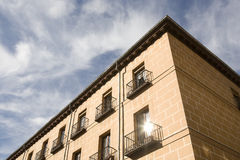 Perspektive eines neuen Gebäudes Lizenzfreie Stockfotografie