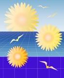 Perspektive-Gänseblümchen vektor abbildung