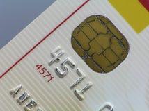 Perspektive geschossen von der Kreditkarte Stockbild