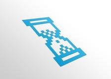 Perspektive-Stunden-Glas Lizenzfreie Stockfotos