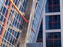Perspektive von zwei Gebäuden Stockfotos