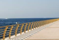 Perspektiveansicht eines Piers. Stockbild
