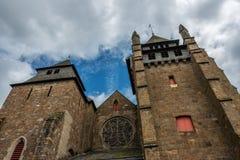 Perspektiven-Ansicht der Saint Brieuc -Kathedrale lizenzfreie stockfotografie
