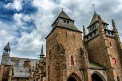 Perspektiven-Ansicht der Saint Brieuc -Kathedrale lizenzfreie stockbilder