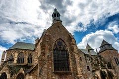 Perspektiven-Ansicht der Saint Brieuc -Kathedrale stockfoto