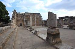 Perspektiven-Ansicht von Capernaum-Synagoge Stockbilder