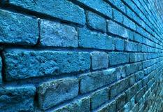 Perspektivenansicht einer blauen Wand Stockfotografie