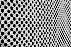 Perspektivenansicht eines weißen hölzernen Gitters Stockbilder