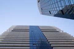 Perspektivenansicht von Handelsbürogebäuden Lizenzfreies Stockbild