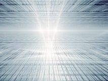 Perspektiventechnologiehintergrund - abstraktes digitallu erzeugt Stockbild