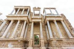 Perspektivet för Roman Theatre prosceniumbotten i Merida Royaltyfri Foto