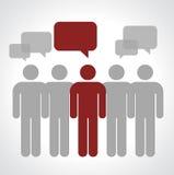 Perspektivman diskussion Stock Illustrationer