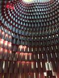 Perspektivmodell för två signal av cylindrar fotografering för bildbyråer