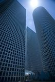 perspektivscyscrapers Royaltyfria Foton
