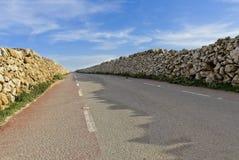 Perspektivsikt av en väg som avlägsnar royaltyfria foton