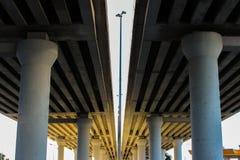 Perspektivsikt av huvudvägen Royaltyfri Foto