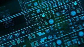 Perspektivsikt med ut ur fokusområden av den futuristiska manöverenheten/Digital screen/HUD