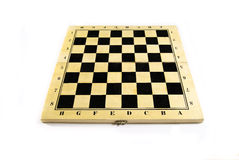 Isolerad tom schackbräde Arkivfoton