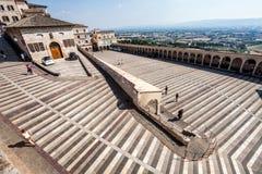 Perspektywa kwadrat St Francis Assisi obraz royalty free