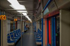Perspektywa Moskwa metra furgon obrazy stock
