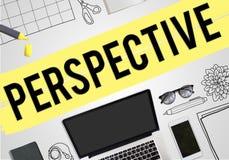 Perspektywicznego widoku opinii biznesu pojęcie ilustracja wektor