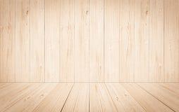 Perspektywiczny lekkiego koloru drewna ściany tła tekstury tło obraz stock