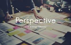 Perspektywiczny postawa punktu widzenia punktu widzenia punktu widzenia pojęcie obraz stock