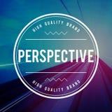 Perspektywiczny pozyci postawy podejścia kąta pojęcie obraz stock