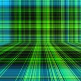 Perspektywiczny szkockiej kraty lub tartanu deseniowy abstrakcjonistyczny tło Zdjęcia Royalty Free