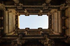 Perspektywiczny widok Adalaj Stepwell w Ahmedabad Fotografia Stock