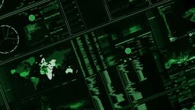 Perspektywiczny widok futurystyczny interfejs, Digital ekran/ royalty ilustracja