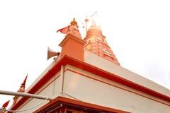 Perspektywiczny widok lokalizować w India świątynia Obrazy Stock
