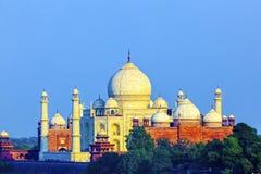 Perspektywiczny widok na Taj-Mahal mauzoleumu Obrazy Stock